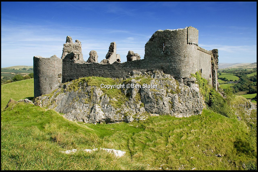BNPS.co.uk (01202 558833)Pic: BenSlater/BNPS<br /> Carreg Cennen Castle whose name translates to 'Castle on the rock'.<br /> <br /> The hidden locations of hundreds of historic ruins and forgotten relics have been revealed in the first ever guide to Britain's crumbling past.<br /> <br /> Author Dave Hamilton has spent more than three years travelling the length and breadth of the country chronicling little-known and hard-to-find remains of abandoned castles, churches, settlements and industrial works.<br /> <br /> His new book, Wild Ruins, lifts the lid on more than 250 haunting sites nationwide in a bid to reconnect people with the country's history.