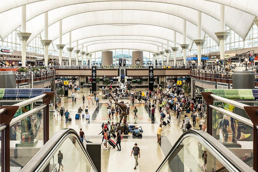 Denver airport terminal, Colorado, USA