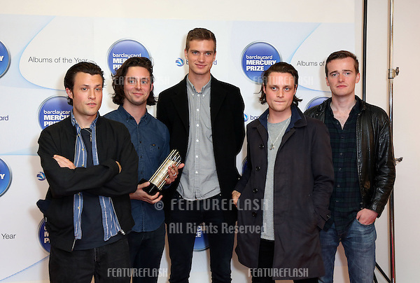 The Maccabees attending the Barclaycard Mercury Music Prize albums of the Year nominations 2012 held at the Hospital club, London. 12/09/2012 Picture by: Henry Harris / Featureflash.....