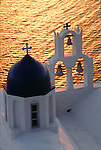 Church bells on the Caldera at sunset