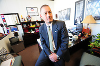 Phoenix, Arizona (March 16, 2014) -- Senator Steve Gallardo in his office in the Senate building in Phoenix, Arizona. Photo Eduardo Barraza © 2014