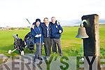 Old Reserves golfers Claude O'Connor, David Sharp and Eamon Reidy celebrating the Reserves 30th anniversary at the Ceann Sibeal Dingle Golf Course on Saturday.