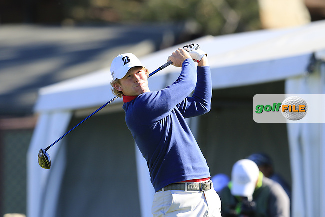 Brandt Snedeker (USA) tees off the 1st tee during Friday's Round 2 of the 2017 Farmers Insurance Open held at Torrey Pines Golf Course, La Jolla, San Diego, California, USA.<br /> 27th January 2017.<br /> Picture: Eoin Clarke | Golffile<br /> <br /> <br /> All photos usage must carry mandatory copyright credit (&copy; Golffile | Eoin Clarke)