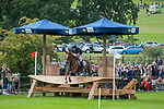 Stamford, Lincolnshire, United Kingdom, 7th September 2019, Tim Price (NZL) riding Bango during the Cross Country Phase on Day 3 of the 2019 Land Rover Burghley Horse Trials, Credit: Jonathan Clarke/JPC Images