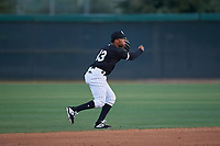 AZL White Sox shortstop Samil Polanco (13) throws to first base during an Arizona League game against the AZL Padres 2 on June 29, 2019 at Camelback Ranch in Glendale, Arizona. The AZL Padres 2 defeated the AZL White Sox 7-3. (Zachary Lucy/Four Seam Images)