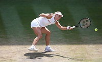Angelique Kerber (GER) during her match against Jelena Ostapenko (LAT) in their Ladies' Semi-Final match<br /> <br /> Photographer Rob Newell/CameraSport<br /> <br /> Wimbledon Lawn Tennis Championships - Day 10 - Thursday 12th July 2018 -  All England Lawn Tennis and Croquet Club - Wimbledon - London - England<br /> <br /> World Copyright &copy; 2017 CameraSport. All rights reserved. 43 Linden Ave. Countesthorpe. Leicester. England. LE8 5PG - Tel: +44 (0) 116 277 4147 - admin@camerasport.com - www.camerasport.com