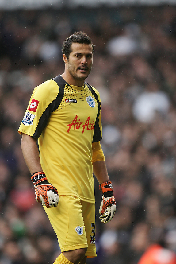 Queens Park Rangers' Julio Cesar ..Football - Barclays Premiership - Tottenham Hotspur v Queens Park Rangers - Sunday 23rd September 2012 - White Hart Lane - London..