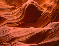 AZNEA_10 -  Erosion of Navajo Sandstone by water has resulted in the dramatic contours of Lower Antelope Canyon, Antelope Canyon Navajo Tribal Park, northeast Arizona, USA --- (4x5 inch original, File size: 7632x6000, 131mb uncompressed).