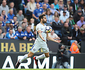 9th September 2017, King Power Stadium, Leicester, England; EPL Premier League Football, Leicester City versus Chelsea; Cesc Fabregas of Chelsea controls the ball with his chest