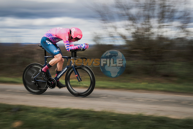Sep Vanmarcke (BEL) EF Pro Cycling in action during Stage 4 of the 78th edition of Paris-Nice 2020, and individual time trial running 15.1km around Saint-Amand-Montrond, France. 11th March 2020.<br /> Picture: ASO/Fabien Boukla   Cyclefile<br /> All photos usage must carry mandatory copyright credit (© Cyclefile   ASO/Fabien Boukla)