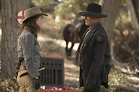 WESTWORLD (season 2)<br /> KATJA HERBERS, ED HARRIS<br /> *Filmstill - Editorial Use Only*<br /> CAP/FB<br /> Image supplied by Capital Pictures