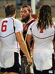 August 13, 2011:   Canada and USA players following the Pre World Cup test match between Canada and USA's national teams at Infinity Park, Glendale, Colorado.  Canada defeated USA 27-7.     .. ...