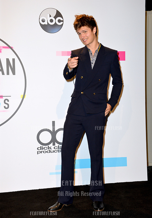 Ansel Elgort at the 2017 American Music Awards at the Microsoft Theatre LA Live, Los Angeles, USA 19 Nov. 2017<br /> Picture: Paul Smith/Featureflash/SilverHub 0208 004 5359 sales@silverhubmedia.com