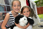 Niamh McCormack and Baileigh Hoey with the toy dog Wags they bought at the DAWN sale. www.newsfile.ie