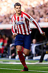Alvaro Morata of Atletico de Madrid during La Liga match between Real Madrid and Atletico de Madrid at Santiago Bernabeu Stadium in Madrid, Spain. February 01, 2020. (ALTERPHOTOS/A. Perez Meca)