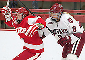 Sarah Lefort (BU - 9), Hillary Crowe (Harvard - 8) - The Harvard University Crimson defeated the visiting Boston University Terriers 3-1 on Friday, November 22, 2013, at Bright-Landry Hockey Center in Cambridge, Massachusetts.