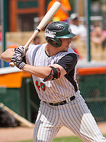 GREEN BAY - June 2015: Green Bay Bullfrogs infielder Danny Rosenbaum (40) during a Northwoods League game against the Kenosha Kingfish on June 21st, 2015 at Joannes Park in Green Bay, Wisconsin. Green Bay defeated Kenosha 10-7. (Brad Krause/Krause Sports Photography)