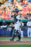 Kane County Cougars catcher Tim Susnara (6) during a game against the West Michigan Whitecaps on July 19, 2018 at Northwestern Medicine Field in Geneva, Illinois.  Kane County defeated West Michigan 8-5.  (Mike Janes/Four Seam Images)