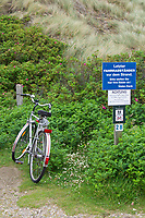 Sylt, Germany. Kampen. La Grande Plage. No bicycles allowed.