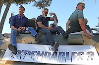 """The Expendables 3"" on a tank - Photocall - 67th Cannes Film Festival - France"
