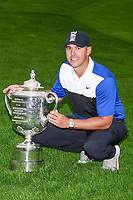 Brooks Koepka (USA) and the trophy for winning the 2019 PGA Championship, Bethpage Black Golf Course, New York, New York,  USA. 5/19/2019.<br /> Picture: Golffile | Ken Murray<br /> <br /> <br /> All photo usage must carry mandatory copyright credit (© Golffile | Ken Murray)