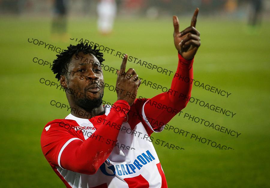 Fudba Super Liga Season 2017-2018<br /> Crvena Zvezda v Rad<br /> Richmond Boakye celebrates scoring a goal<br /> Beograd, 18.11.2017.<br /> foto: Srdjan Stevanovic/Starsportphoto &copy;
