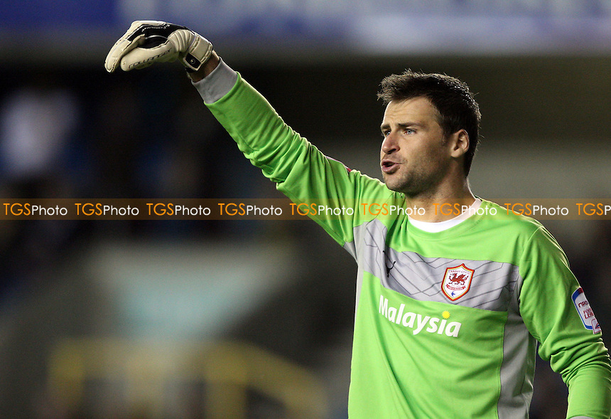 Cardiff goalkeeper David Marshall - Millwall vs Cardiff City, nPower Championship at the New Den, Millwall, London - 18/09/12 - MANDATORY CREDIT: Rob Newell/TGSPHOTO - Self billing applies where appropriate - 0845 094 6026 - contact@tgsphoto.co.uk - NO UNPAID USE.