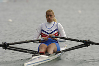 Munich, GERMANY, 2006, FISA, Rowing, World Cup, SCG, W1X Iva Obradovic,  held on the Olympic Regatta Course, Munich, Thurs. 25.05.2006. © Peter Spurrier/Intersport-images.com,  / Mobile +44 [0] 7973 819 551 / email images@intersport-images.com.[Mandatory Credit, Peter Spurier/ Intersport Images] Rowing Course, Olympic Regatta Rowing Course, Munich, GERMANY