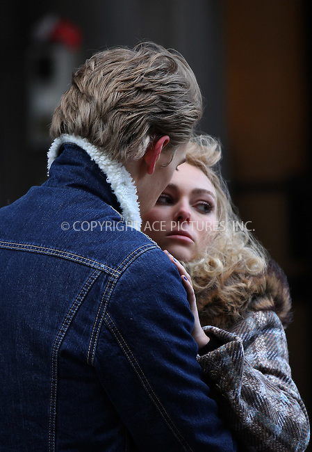 WWW.ACEPIXS.COM....January 22 2013, New York City....Actors AnnaSophia Robb and Austin Butler on the set of the new TV series 'The Carrie Diaries' on January 22 2013 in New York City....By Line: Zelig Shaul/ACE Pictures......ACE Pictures, Inc...tel: 646 769 0430..Email: info@acepixs.com..www.acepixs.com