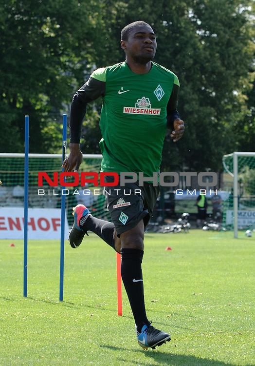 23.07.2013, Sportplatz, Blankenhain, GER, 1.FBL, Trainingslager Werder Bremen 2013, im Bild C&radic;&copy;dric Makiadi (Bremen #6)<br /> <br /> Foto &not;&copy; nph / Frisch