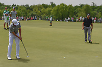 Jimmy Walker (USA) sinks a par saving putt on 3 during round 3 of the AT&amp;T Byron Nelson, Trinity Forest Golf Club, at Dallas, Texas, USA. 5/19/2018.<br /> Picture: Golffile | Ken Murray<br /> <br /> <br /> All photo usage must carry mandatory copyright credit (&copy; Golffile | Ken Murray)