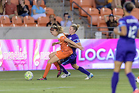 Morgan Brian (6) of the Houston Dash and Becky Edwards (14) of the Orlando Pride battle for control of the ball on Friday, May 20, 2016 at BBVA Compass Stadium in Houston Texas. The Orlando Pride defeated the Houston Dash 1-0.