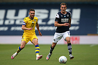 Jed Wallace of Millwall and Jay Fulton of Swansea City during Millwall vs Swansea City, Sky Bet EFL Championship Football at The Den on 30th June 2020
