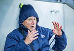 AMSTELVEEN - coach Carlos Castano (HCKZ)  voor de hoofdklasse competitiewedstrijd mannen, Amsterdam-HCKC (1-0).  COPYRIGHT KOEN SUYK