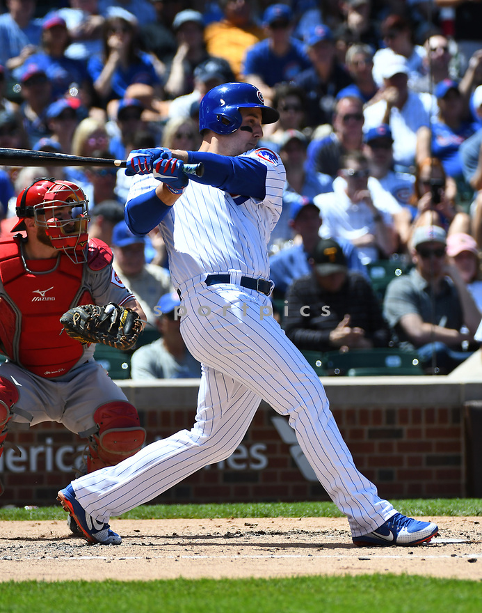 CHICAGO IL - May 18, 2017: Anthony Rizzo #44 of the Chicago Cubs during a game against the Cincinnati Reds on May 18, 2017 at Wrigley Field in Chicago, IL. The Cubs beat the Reds 9-5.(David Durochik/ SportPics)