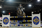 Philipp Weishaupt of Germany riding Call me Eva competes during the EEM Trophy, part of the Longines Masters of Hong Kong on 10 February 2017 at the Asia World Expo in Hong Kong, China. Photo by Juan Serrano / Power Sport Images