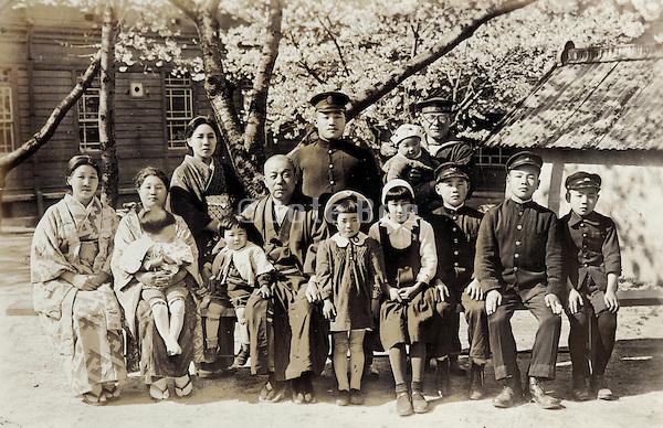 family group photo Japan 1930s