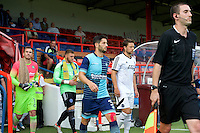 Joe Jacobson of Wycombe Wanderers during the Friendly match between Aldershot Town and Wycombe Wanderers at the EBB Stadium, Aldershot, England on 26 July 2016. Photo by Alan  Stanford.