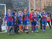 24th March 2018, McDiarmid Park, Perth, Scotland; Scottish Football Challenge Cup Final, Dumbarton versus Inverness Caledonian Thistle; Inverness Caledonian Thistle players on lap of honour after winning the Irn-Bru Cup