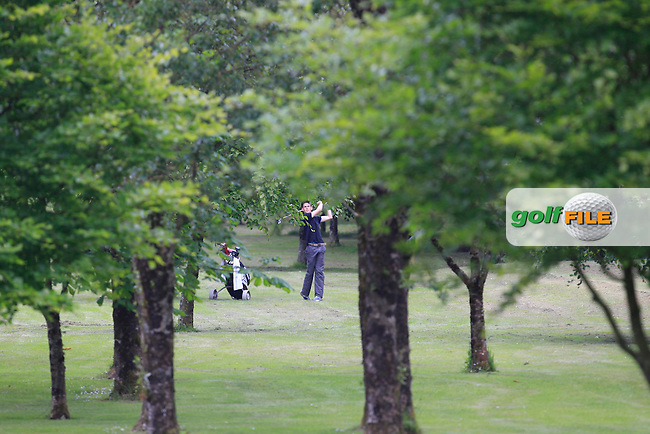 Stephen Kelliher (Killarney) on the 6th fairway during Round 2 of the Irish Boys Amateur Open Championship at Tuam Golf Club on Wednesday 24th June 2015.<br /> Picture:  Thos Caffrey / www.golffile.ie