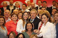 SAO PAULO, 30 DE JULHO DE 2012. CAFÉ DA MANHÃ DO LULA COM CANDIDATOS. O ex presidente Luis Inacio Lula da Silva com as candidatas do PT a prefeitura. FOTO: ADRIANA SPACA - BRAZIL PHOTO PRESS