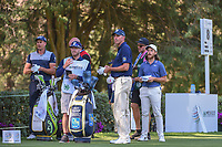 Henrik Stenson (SWE), Matt Kuchar (USA), and Tommy Fleetwood (ENG) wait to tee off on 8 during round 1 of the World Golf Championships, Mexico, Club De Golf Chapultepec, Mexico City, Mexico. 2/21/2019.<br /> Picture: Golffile | Ken Murray<br /> <br /> <br /> All photo usage must carry mandatory copyright credit (© Golffile | Ken Murray)