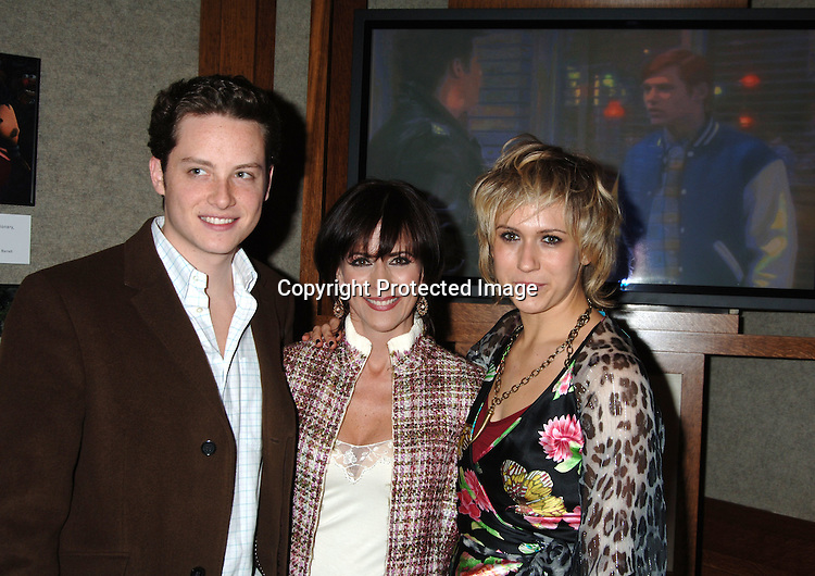 "Jesse Soffer, Colleen Zenk Pinter and Jennifer Landon ..at The 50th  Anniversary Party for ""As The World Turns""..on March 23, 2006 at The Museum of Television  and Radio...Robin Platzer, Twin Images"