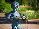 Spring in Sarah P. Duke Gardens.<br /> Terrace Fountain<br /> Photo by Bill Snead/Duke Photography #dukephotoaday, #dukefacilities