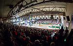 S&ouml;dert&auml;lje 2014-04-22 Basket SM-Semifinal 7 S&ouml;dert&auml;lje Kings - Uppsala Basket :  <br /> Vy &ouml;ver T&auml;ljehallen fr&aring;n publikfylld l&auml;ktare under matchen<br /> (Foto: Kenta J&ouml;nsson) Nyckelord:  S&ouml;dert&auml;lje Kings SBBK Uppsala Basket SM Semifinal Semi T&auml;ljehallen supporter fans publik supporters inomhus interi&ouml;r interior