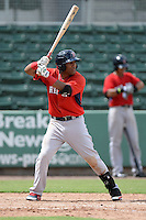 Boston Red Sox infielder Wendell Rijo (11) during an Instructional League game against the Minnesota Twins on September 26, 2014 at jetBlue Park at Fenway South in Fort Myers, Florida.  (Mike Janes/Four Seam Images)