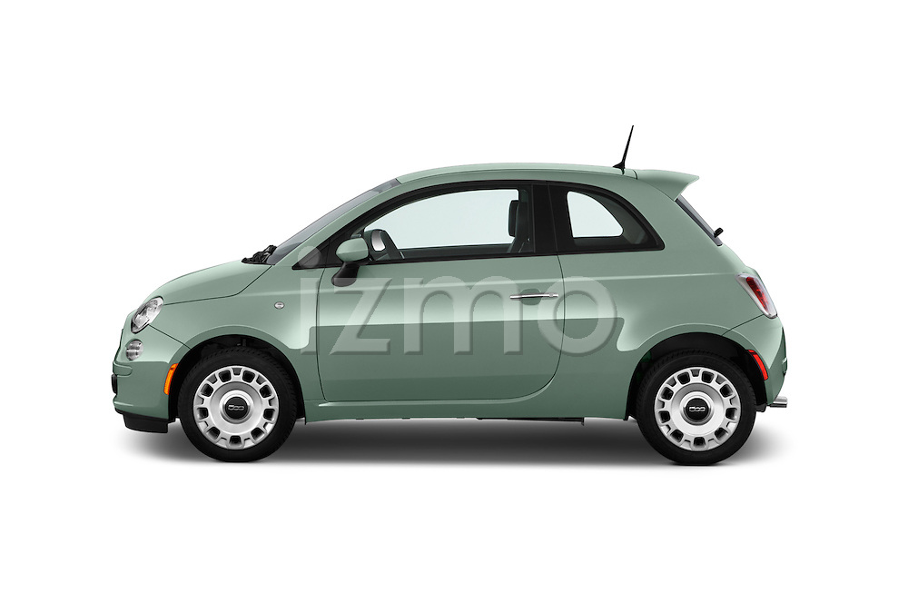 Car Driver side profile view of a 2015 Fiat 500 POP 3 Door Hatchback Side View