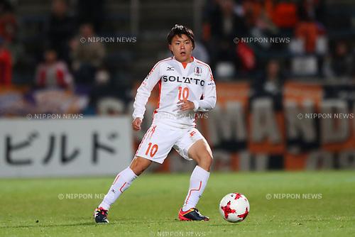 Kodai Yasuda (Ehime FC), <br /> MAY 3, 2017 - Football / Soccer : <br /> 2017 J2 League match <br /> between Yokohama FC 4-0 Ehime FC <br /> at NHK Spring Mitsuzawa Football Stadium, Kanagawa, Japan. <br /> (Photo by YUTAKA/AFLO SPORT)
