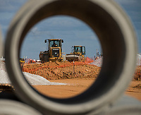 NWA Democrat-Gazette/BEN GOFF @NWABENGOFF<br /> Construction work on a new apartment complex progresses Friday, Feb. 9, 2018, on a site at the corner of Southeast C Street and Southeast 28th Street in Bentonville.
