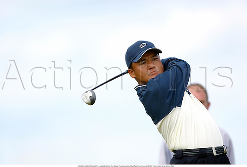 SHIGEKI MARUYAMA (JPN) on the 6th tee, The Open Championship, Muirfield, Scotland, 020721. Photo:Glyn Kirk/Action Plus...Golf.2002